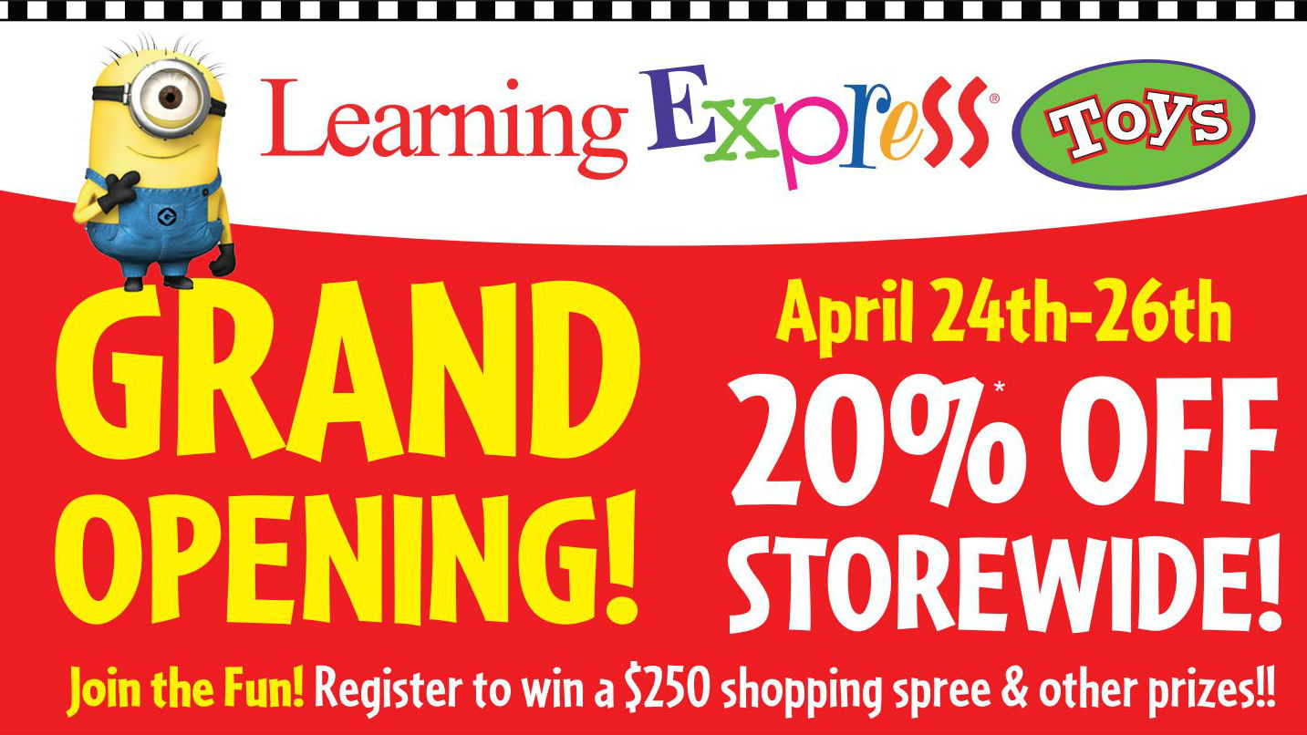 grand opening flyer learning express