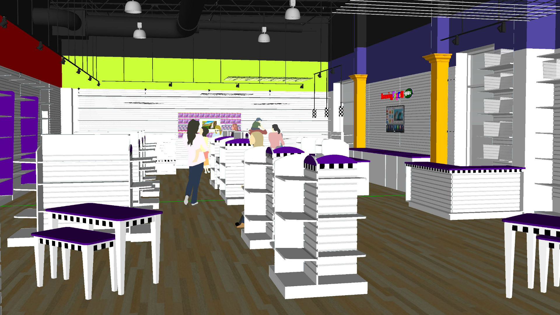 store design three dimensional sketchup