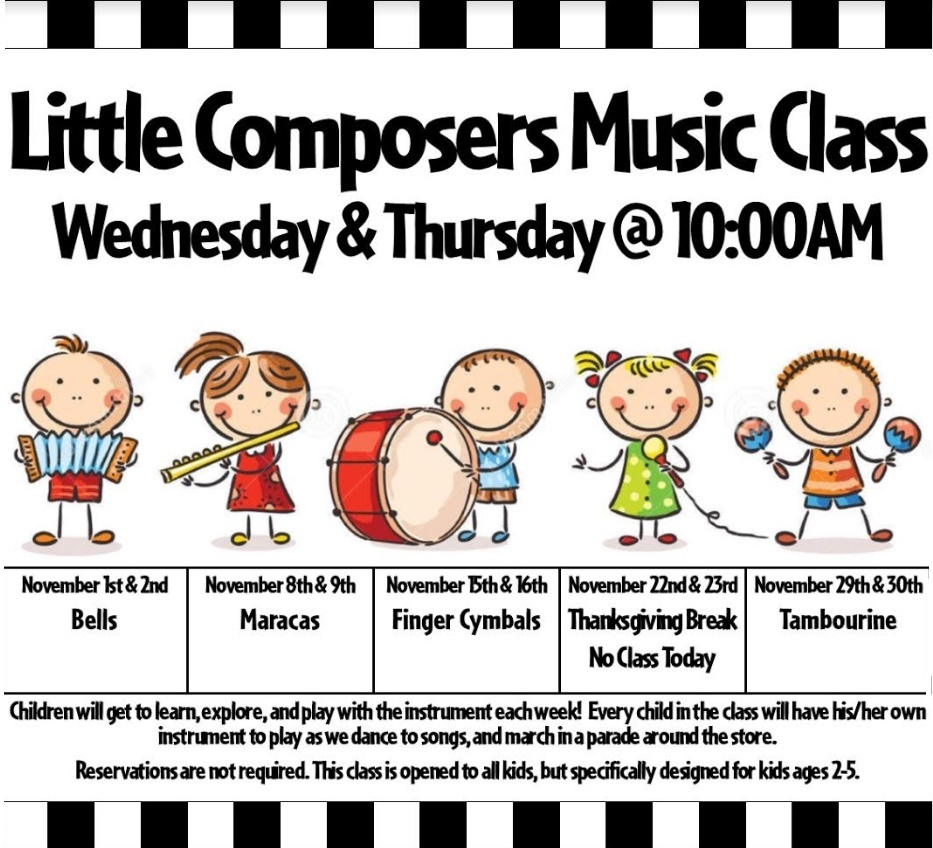 Free Talk Wednesday November 5th In >> Little Composers Music Class